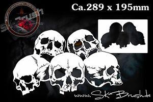 Airbrush-Schablone-fuer-Schaedel-Skullhaufen-Totenkoepfe-Skull-039-s-Kopf