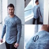 Odin Gear Men's Gym T-Shirt Long Sleeve Viking Bodybuilding Fitness Fashion Top