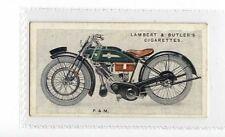 (Jz017-100) Lambert & Butler,Motor Cycles,P & M,1923 #38