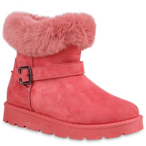 Damen Stiefeletten Flache Winterboots Warm Gefütterte 895765 Schuhe
