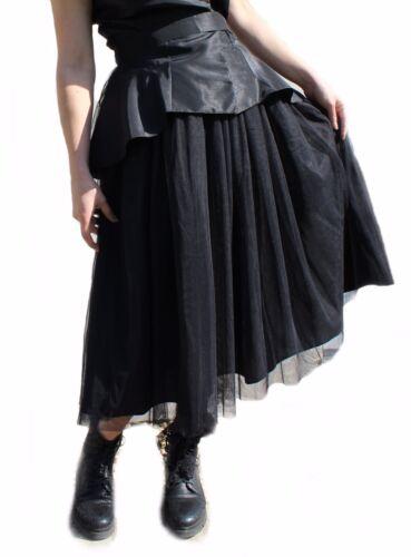 Damen Tüllrock schwarz Peticoat mehrlagig Ballrock aus Tüll