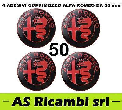 COPRIMOZZO ADESIVI CERCHI IN LEGA BORCHIE  ALFA ROMEO 50MM SET 4PZ