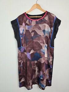 Gabriella Frattini BNWT Shift Dress Women's Size 10 Brown & Black w/ Ribbon Trim