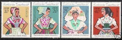 Systematisch Ddr Nr.1668/71 ** Sorbische Trachten 1971 Postfrisch Ddr 1949-1990 Motive