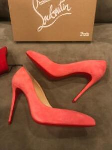 164e9d434dd8 Image is loading Christian-Louboutin-PIGALLE-FOLLIES-100-Suede-Heels-Pump-