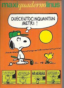 Maxi quaderno LINUS SNOOPY con strisce a fumetti, Auguri Mondadori - arancione 1