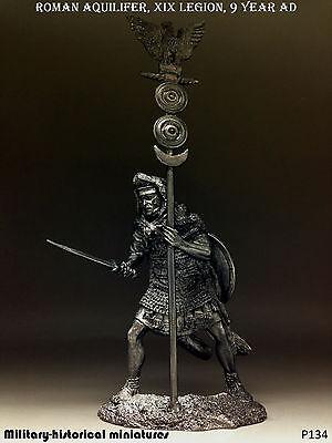 Roman aquilifer  XIX Legion, Tin toy soldier 54 mm, figurine, metal sculpture