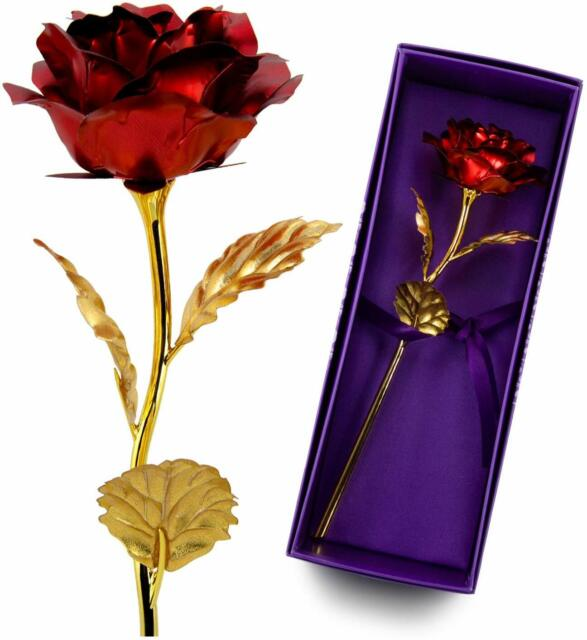 Red Rose 24k Gold  Real Flower Mother days//Valantine day      Gift Ideas For Her