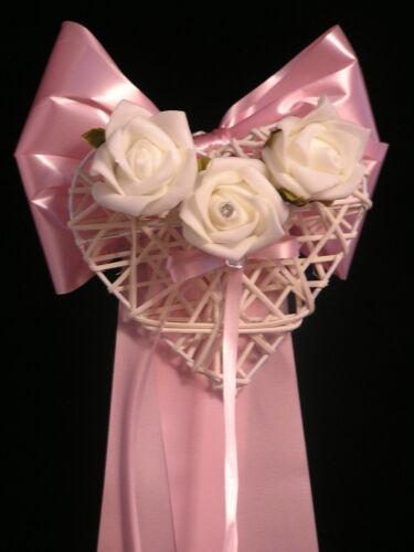 """Pew fin BOWS mariage église /""""DORA/"""" motif cœur avec des fleurs toute couleur//S"""