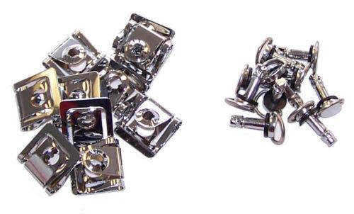 Fairing Quick Release Fasteners 17mm D-RING ¼ TURN w// Clip Fiberglass Rivet Dzus