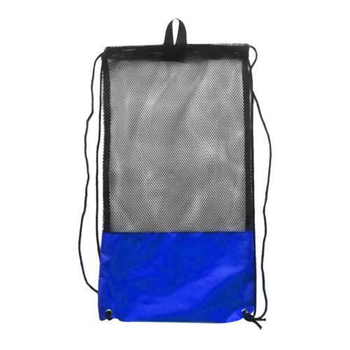 Mesh Gear Carry Bag with Shoulder Strap for Scuba Diving Equipment Mask Fins