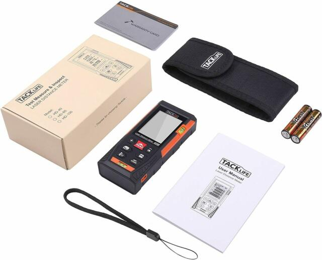 Laser Distance Meter Digital Ultrasonic Range Finder Measure Tape Diastimeter