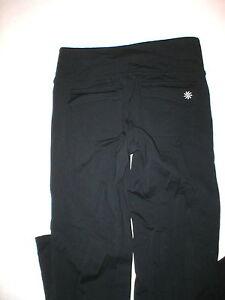 b697fc020e13d Womens Athleta S Pants Yoga Pilates Gym Casual Black Fusion Pockets ...