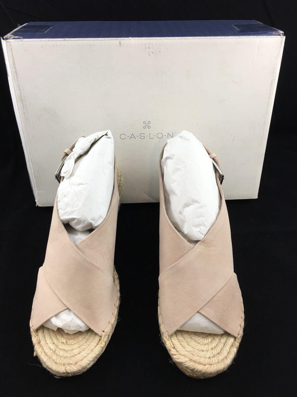 Caslon Suri bluesh bluesh bluesh Suede Leather Espadrille Wedge Sandals Size 5.5 ad951b