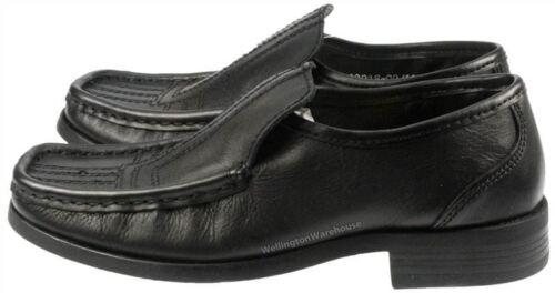 Red Tape Oakham Black Slip On Formal Shoes School Leather Boys