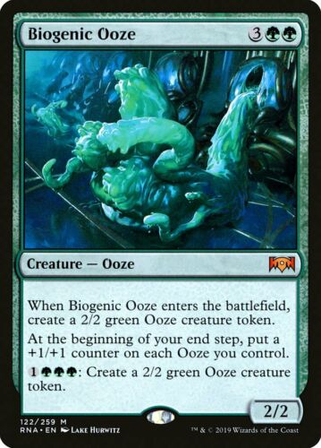 1X FOIL Biogenic Ooze MTG Magic RAVNICA ALLEGIANCE 122//259