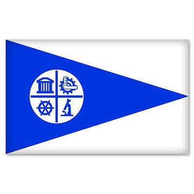 "Minneapolis Minnesota city flag bumper sticker 5"" x 3"""