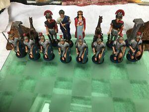 DéSintéRessé Brooks Et Bentley Roman & Egyptian Chess Set-afficher Le Titre D'origine ModéLisation Durable