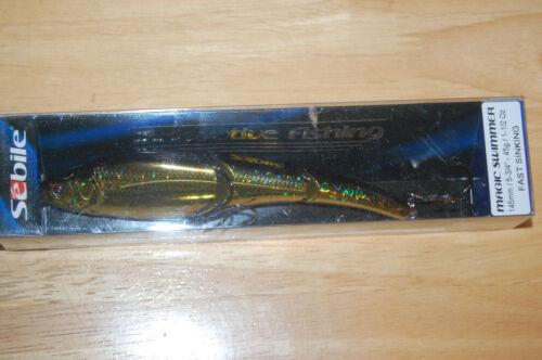 "sebile magic swimmer 145 fast sink  5 3//4/"" 1 1//2oz  natural golden shiner"