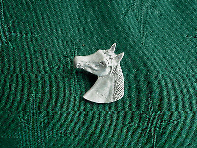 Horse Head Button, Handcrafted in Fine Lead-Free Pewter