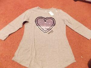 b0e72647c4475 justice -girls size 18/20 -Dance Flip Sequin Three Quarter sleeve ...
