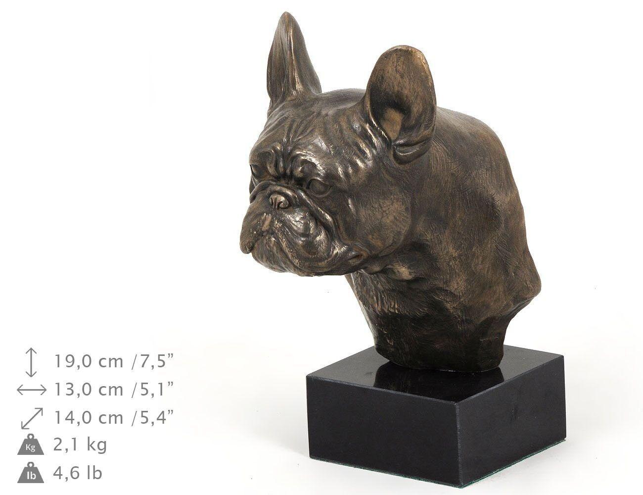 French Bulldog type 3 - dog figurine on the marble base, high quality Art Dog