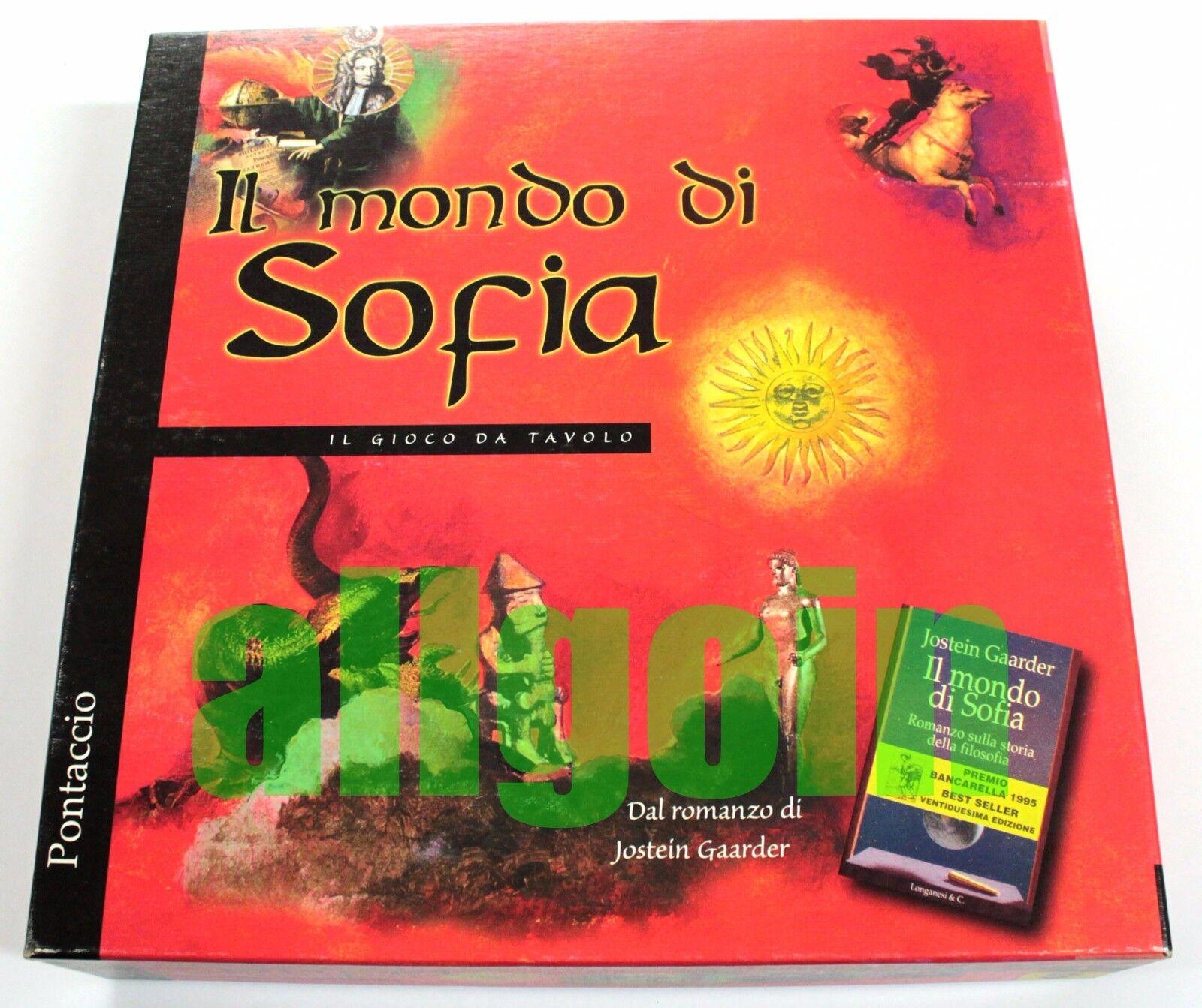 IL MONDO DI SOFIA Jostein Gaarder 1998 Gioco da Tavolo RARO FUORI CATALOGO