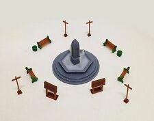 Outland Models Railroad Park / Garden Accessories with Fountain HO OO Scale 1:87