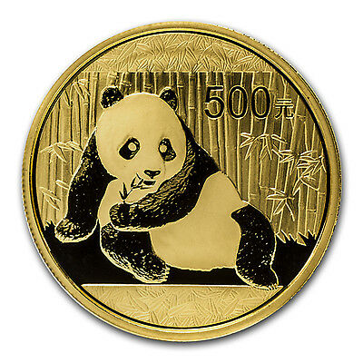 2015 China 1 oz Gold Panda BU (Sealed) - SKU #84907