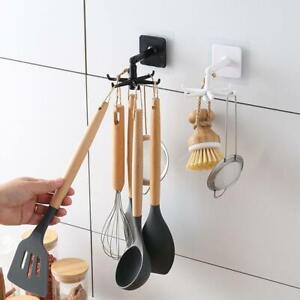 Under Shelf Rotate Hook Holder Hang Kitchen Cabinet Storage Rack Organizer Ebay