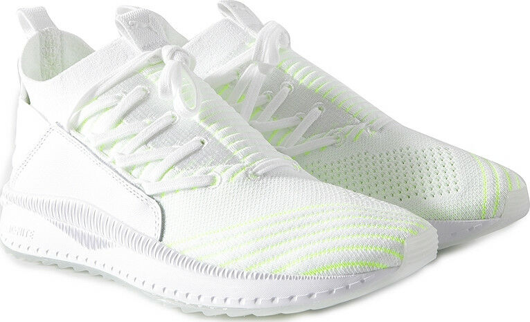 NIB MEN PUMA 366068 01 TSUGI JUN PACE PUMA WHITE LIME RUNNING SHOE SNEAKERS  130