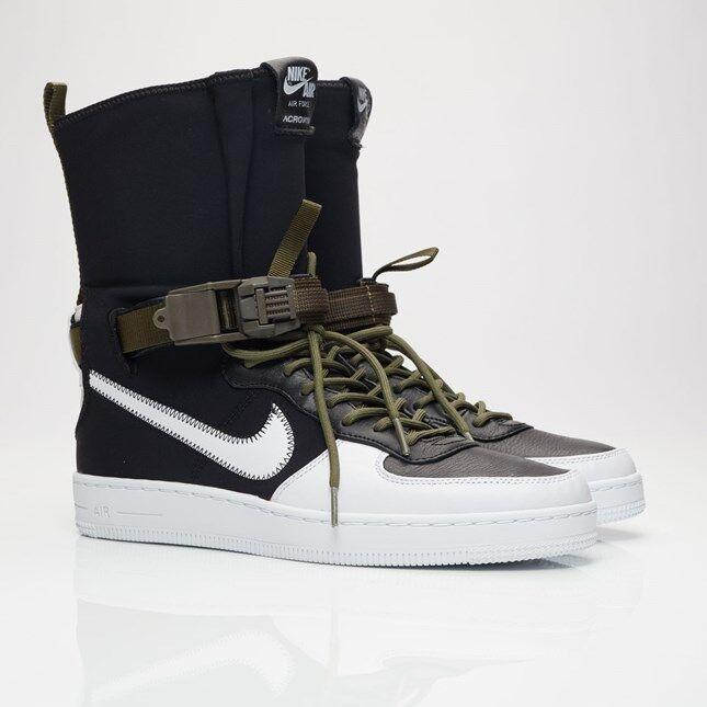 NikeLab AF1 Downtown Hi SP x ACRONYM 649941-001 Black/White Men Sizes NEW