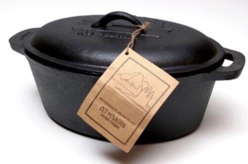 PreSeasoned New Old Mountain Cast Iron Casserole Dish