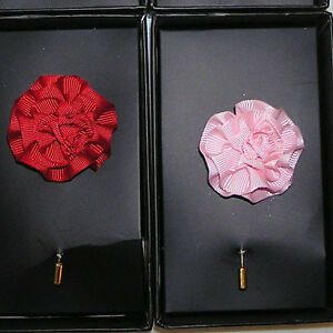 New jos a bank 100 silk flower lapel pin in red pink white all image is loading new jos a bank 100 silk flower lapel mightylinksfo