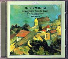 Darius MILHAUD Symphony No.2 & 3 Te Deum Alun Francis CPO CD Sinfonien