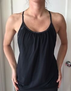 8dbbc35d4e0 Lululemon Size 4 No Limit Tank Top Bra Gray Black Camouflage ...