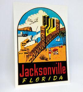 Jacksonville Florida Vintage Style Travel Decal Vinyl