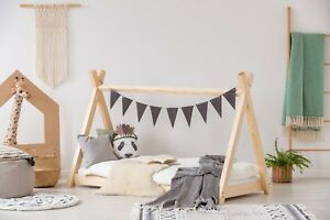 buy online 9c04a dfdb0 Details about Children Bed House teepee Bed Kids Beds 12 Dimension TP