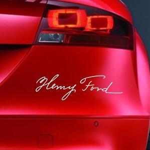 HENRY-FORD-SIGNATURE-Sticker-Car-RS-ST-FOCUS-FIESTA-KA-Bumper-Vinyl-Decal