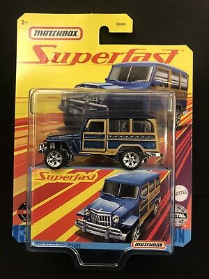 2020 Matchbox Superfast #13 1962 Willys Jeep® Wagon ROYAL BLUE POLY MOC