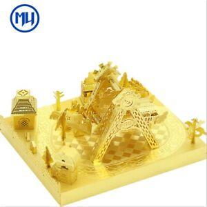 Corsair-Gold DIY 3D Metal Puzzle Assemble Model Kits Laser Cut Jigsaw