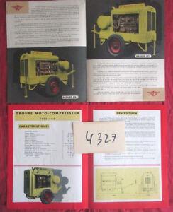 N°4327 / 2 dépliants groupe motocompresseu<wbr/>r diesel de la C.L.M