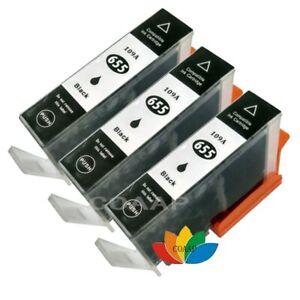 3-cartouche-d-039-encre-noire-pour-imprimante-Compatible-HP-655-655XL-Deskjet-4615