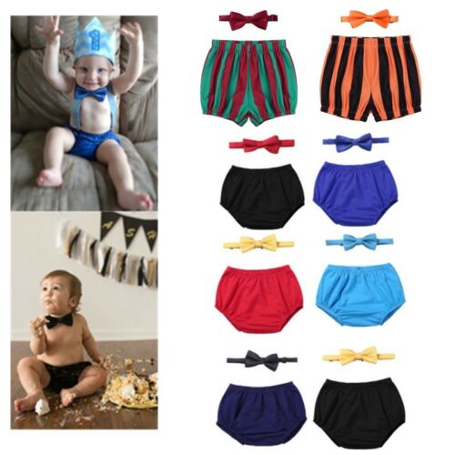 Baby Boys Outfit Bloomers Shorts Nappy Diaper Covers 1st Birthday Photo Props