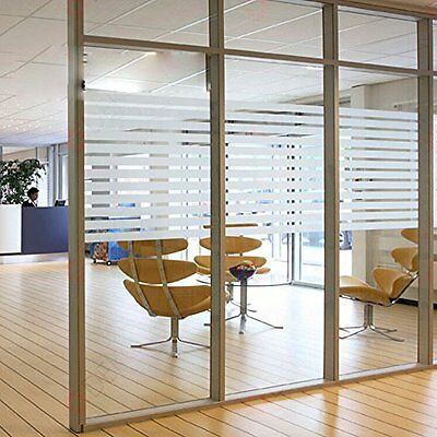Frosted Glass Window Film Glue Self-adhesive Sticker Stripe Office Home Decor