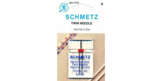 Aguja Doble Premium Calidad Schmetz universal de Máquina de Coser Agujas 130//705 H Z