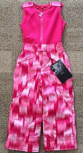 Spyder Kids Girls Size 4 Bitsy Tart Pants Snow Ski Winter Pink Bibs Overalls