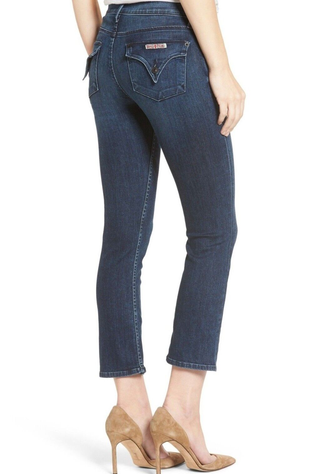 198 NWT HUDSON Sz28 BAILEE MIDRISE CROP BABY BOOTCUT STRETCH JEANS MOONSHINE