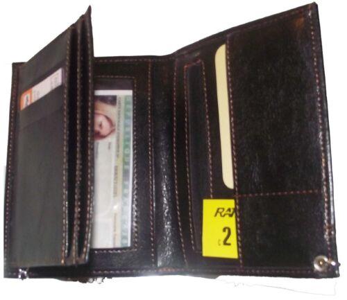papiers avec chaine porte monnaie cartes Pochette Etui Portefeuille Homme
