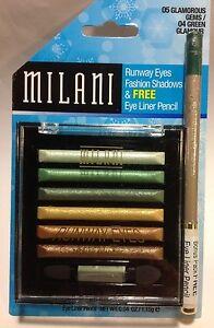 Milani-Runway-Eyes-Fashion-Eyeshadow-GLAMOROUS-GEMS-Eye-Liner-Pencil-GREEN
